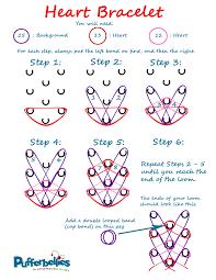 looms bracelet instructions images Rainbow loom heart bracelet written instructions pufferbellies jpg