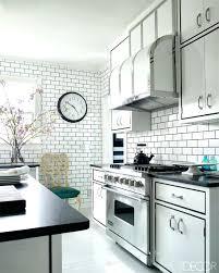 backsplash for black and white kitchen black and white subway tile backsplash interior modern black and