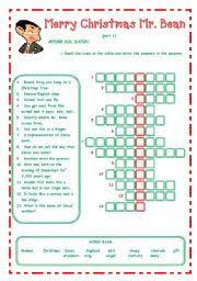 english teaching worksheets merry christmas mr bean