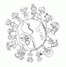 children of the world earth day coloring page for kids coloring
