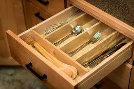 kitchen organizer silverware tray narrow covered two tier