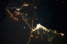 Wildfire From Space by Gas Flaring In Iraq Image Of The Day