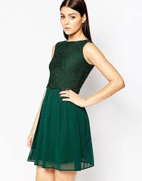 forest green lace overlay dress from asos club l lace overlay