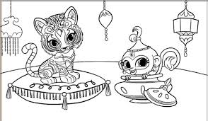 shimmer shine coloring pages getcoloringpages