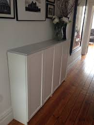 Billy Bookcase Hacks Ikea Billy Bookcases For Hallway Shoe Storage Topped With Marble