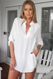 white blouses white v neck sleeve dressy top womens shirts blouses
