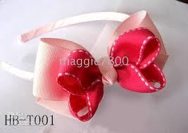 ribbon headbands baby girl grosgrain ribbon covered headband with hair bow hairbows