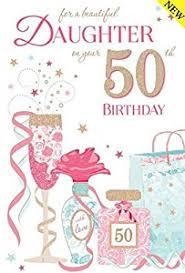 daughter 50th birthday card amazon co uk kitchen u0026 home