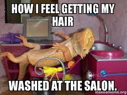 Salon Meme - how i feel getting my hair washed at the salon make a meme