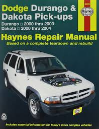 dodge durango and dakota pick ups 2000 2003 repair manual