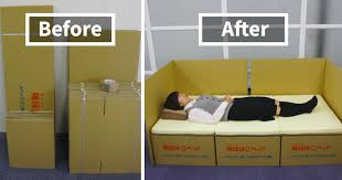 How To Make A Box Bed Frame Boxes Into Beds Brilliant Idea Helps Earthquake Victims In Japan