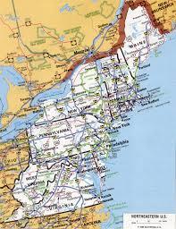 northeast map of us east us
