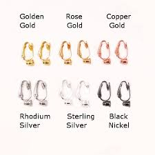 clip on earring converter 6 colours of no bend earring converters 6 pairs