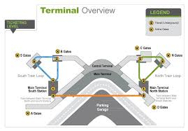 seattle airport terminal map maps directions