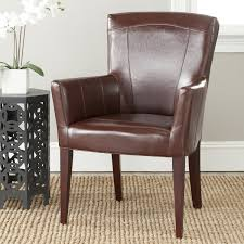 Leather Accent Chair Amazon Com Safavieh Mcr4710a Dale Arm Chair Accent Chairs Brown
