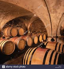 Burgundy Wine Cellar - traditional barrel wine cellar of domaine de la pousse d u0027or