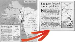 Aa Route Map The Klondike Gold Rush 1896 1899 Route And Staring Point