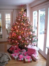 stylish inspiration ideas pink christmas tree decorations