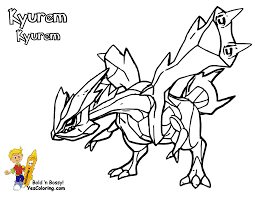coloring page pokemon black kyurem ex coloring pages for all