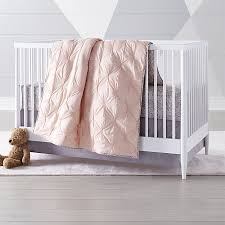 Crib Bed Chic Pink Crib Bedding Crate And Barrel