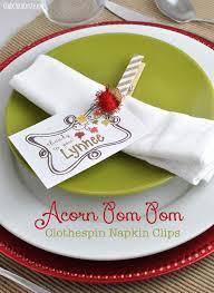 glittery colored acorn clothespin nature craft idea club chica