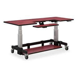 Height Of Computer Desk Innovative Adjustable Computer Desk Pneumatic Sit Stand Adjustable