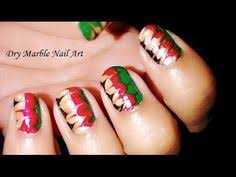 Diy Easy Halloween Drag Marble Nails Design Cute Dry Nail Art by Toothpick Nail Art 4 Dry Marble Nail Art Drag Marble Nail
