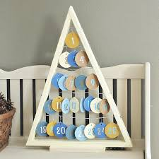 tree advent calendar with wooden ornaments project by decoart