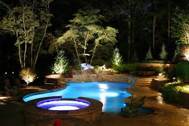 Pool Landscape Lighting Ideas Ty Towriss Pool And Pavilion Contemporary Pool Atlanta By