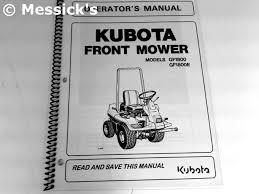 kubota gf1800 gf1800e owners manual part k3311 62923
