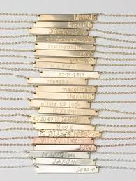 personalized name bar necklace bar necklace personalized name plate necklace gold silver