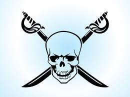 pirate skull with crossed swords tattoos photo 2 photo