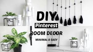 Pinterest Bedroom Decor Diy by Diy Pinterest Room Decor Minimal And Affordable 2016 Youtube