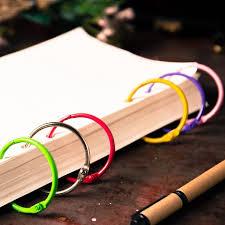 reliure bureau coloré en métal mignon reliure à anneaux pour cahiers à spirale