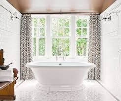 bathrooms design astonishing green window curtain for calm white
