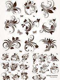 ornate floral elements vector vector graphics