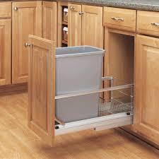 quartz countertops kitchen garbage can cabinet lighting flooring