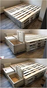 bed frames how to make a king size pallet bed step by step