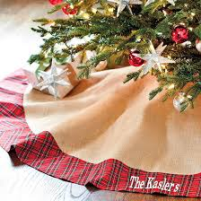 plaid tree skirt suzanne kasler burlap and plaid tree skirt ballard designs