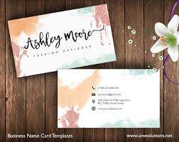 Home Design Business Names Premade Business Card Template Name Card Template Photography