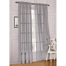Silver Window Curtains 54 X 84 Solid Sheer Voile Panels Window Curtains Silver Tmart