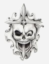 skull cross stock illustration illustration of humor