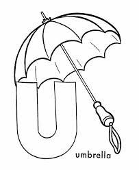 capital letter umbrella coloring bulk color