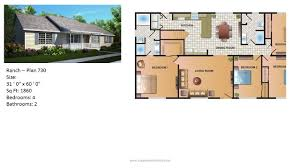 small manufactured homes floor plans modular home ranch plan 730 2 jpg