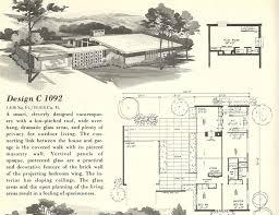 villa house plans mid century modern house plans vintage 1960s plan villa