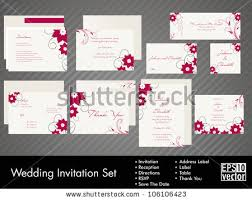 Wedding Invitation Sets Wedding Invitation Vector Set Download Free Vector Art Stock
