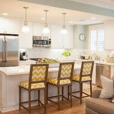 yellow kitchen islands yellow kitchen island transitional kitchen bhg