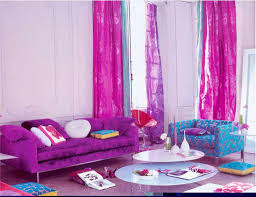 Purple Livingroom Adorable Pink And Purple Blue Living Room With Purple Curtains For
