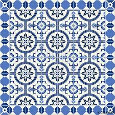 gorgeous seamless pattern from blue and white floral turkish