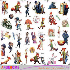new arrival zootopia stickers 3d cartoon bubble stickers judy nick